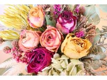 アイラッシュサロン ブーケ(bouquet)の雰囲気(店内のドライフラワー)