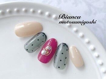 ビアンカ 元住吉店(Bianca)/シースルーネイル¥7980