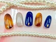 ネイルアンドアイラッシュ ハッピーフレーバー 秋葉原店(Nail&Eyelash Happy Flavor)の雰囲気(秋冬人気のデザイン♪べっこうネイル!)