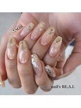 ネイルズリアル(nail's REAL)/シェル埋め込みネイル