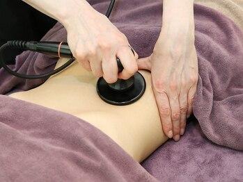 トータルビューティーサロン アマーレヒロセの写真/RF(ラジオ波)により身体を温め代謝UP!!また身体の深部まで温熱し痩身効果も◎