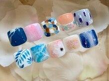 シエル ネイルスタジオ 山口店(Ciel nail studio)の雰囲気(フット1カラー+親指アート付きコース ¥5,650が大人気!)
