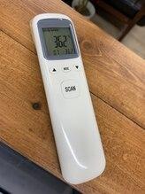 セラピア センター北店/入店時に体温測定を行います。