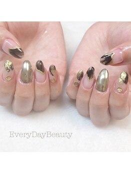エブリディビューティー 吉祥寺店(Every Day Beauty)/ブラック&ゴールドでニュアンス!