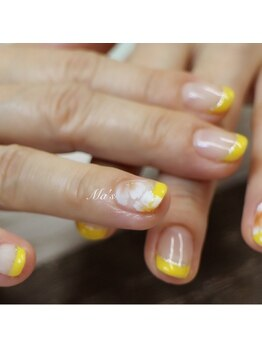 マアズ まあず(Ma's*)/【ネイル】yellowで春爛漫