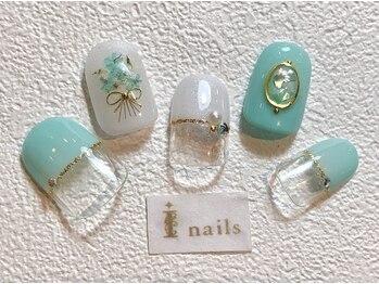 アイネイルズ 梅田店(I nails)/ブライダルブーケネイル