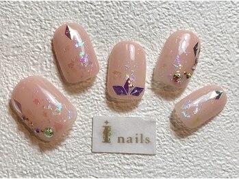 アイネイルズ 梅田店(I nails)/オーロラニュアンス