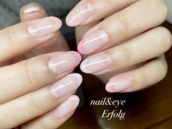 ネイルサロン エアフォルク 銀座(Erfolg)/ピンクなシンプルフレンチネイル