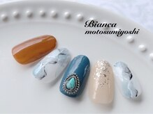 ビアンカ 元住吉店(Bianca)/大理石ネイル¥7980