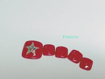 フランセス(Frances)/フット 星ネイル