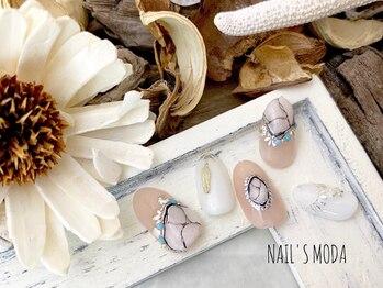 ネイルズ モダ(NAIL'S MODA)/7月の新作★ホワイト天然石