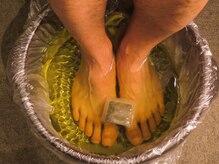 衛生的な生姜足湯!