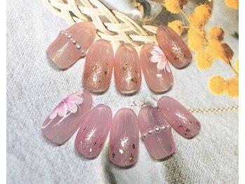 ネイルサロン キャンディネイル(Candy Nail)/お花デザインby佐合