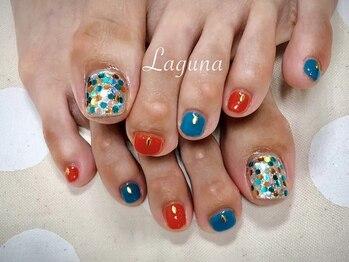 ラグウナ(Laguna)/青とオレンジの夏フット