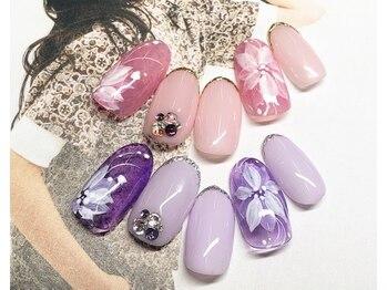 ネイルサロン キャンディネイル(Candy Nail)/お花 by横山