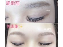 アリュール(allure)の雰囲気(眉毛が整うと一気に垢抜けます!マツエクと同時施術も可能です♪)