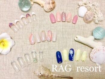 ラグ リゾート(RAG)の写真/毎月変わるデザインネイルは、デザインに悩んでしまう方にオススメ◎お好きな色が選べます♪