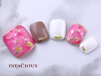 インフェイシャス タカシマヤ ゲートタワーモール店(INFACIOUS)/大人ピンク★フットシェルネイル