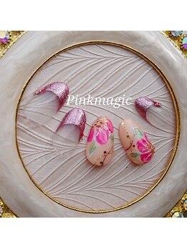 ピンクマジック(PINKMAGIC)/ピンクのお花ネイル