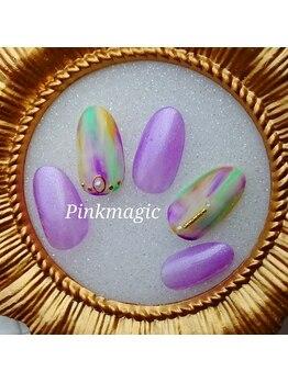 ピンクマジック(PINKMAGIC)/縦マーブルネイル