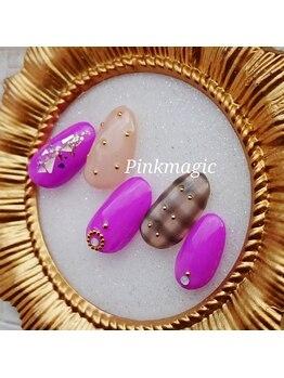 ピンクマジック(PINKMAGIC)/チェックネイル
