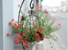 ところどころに飾られたお花に癒される!