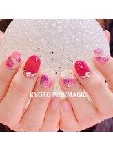 ピンクマジック(PINKMAGIC)/薔薇ネイル
