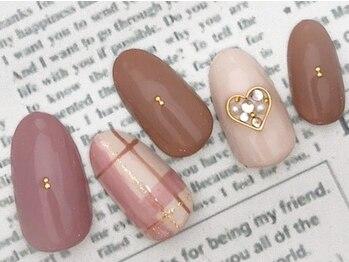 Warming plaid nail【6300円】
