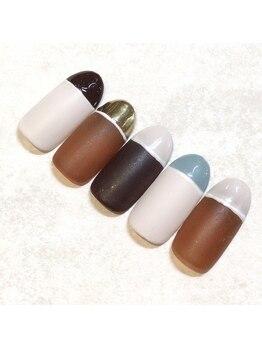 ライト ネイルズ ニシノミヤ(light nails NISHINOMIYA)/秋キャンペーンネイル☆¥8250