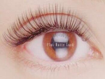 ファーストネイルアンドアイラッシュ 札幌駅前店(1stNAIL&eyelash)の写真/【遂にフラットマットラッシュが導入!】ボリュームたっぷりのフサフサのまつげで目元を華やかに★