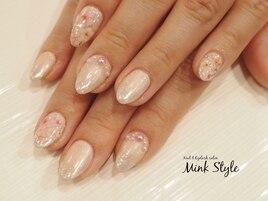 桜ミラーネイル