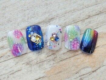ビューティーサロン ルームフォーユー(Room 4U)/紫陽花と虹