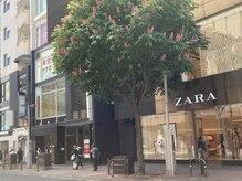 アイルテリア(Eyelash&Nail Eyelteria)/店舗入口は西通り沿いでZARA近く