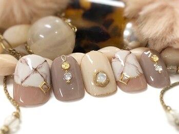ネイルアンドアイラッシュ ブレス エスパル山形本店(BLESS)/大人の天然石