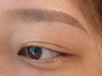VTGアイラッシュ 真岡店の写真/お顔の印象を左右する眉毛!骨格に合わせて似合う眉毛をご提案◎メイクレクチャ-付で毎日のメイクも簡単に♪