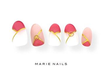 マリー ネイルズ いわきラトブ店(MARIE NAILS)/定額6600税込 ピンク0708b