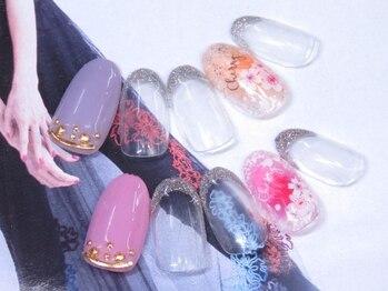 ネイルサロン キャンディネイル(Candy Nail)/桜ネイル by星