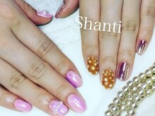 シャンティ ネイルサロン(Shanti nail salon)/ミラーネイルとベルベットネイル