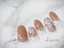 ラグウナ(Laguna)/フレンチ&フラワーネイル