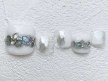 リーチェ ビューティアンドネイルサロン 大名店(Beauty&Nail Salon)/shell × mirror