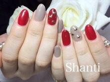 シャンティ ネイルサロン(Shanti nail salon)/秋冬シンプル星のパーツ☆