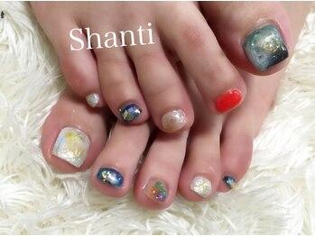シャンティ ネイルサロン(Shanti nail salon)/春夏秋冬ニュアンスフットネイル