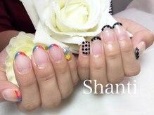 シャンティ ネイルサロン(Shanti nail salon)/個性派シンプルフレンチネイル♪