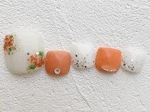 リーチェ ビューティアンドネイルサロン 大名店(Beauty&Nail Salon)/flower foot design