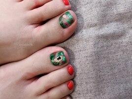 【foot】マダムとフラミンゴ