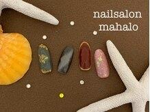 マハロ(mahalo)/宝石ネイル♪
