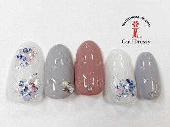 キャンアイドレッシー 松山大街道店(Can I Dressy)/梅雨ネイル 5500円