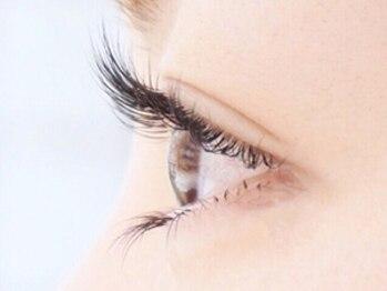 アイラッシュ ラビスタ 四条烏丸店(eyelash la vista)の写真/【綺麗な瞳長続き】ナチュラルアップワードラッシュで理想の瞳☆+¥880でフラットマットラッシュに変更も◎