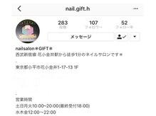http://instagram.com/nail.gift.hインスタ続々!