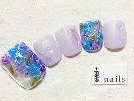 紫陽花水滴フット9480円